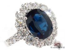 18K Gold Blue Sapphire Diamond Ring 31543 ジェムストーン ダイヤモンド リング