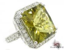 Green Quartz Diamond Ring 31545 ジェムストーン ダイヤモンド リング