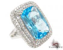 Blue Topaz Diamond Ring 31546 ジェムストーン ダイヤモンド リング