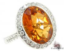 Madeira Citrine Diamond Ring 31547 ジェムストーン ダイヤモンド リング