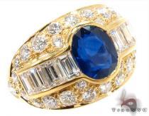 oval cut Sapphire Diamond Ring 31549 ジェムストーン ダイヤモンド リング