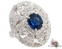 Blue Sapphire & amazing Diamonds Ring 31551 ジェムストーン ダイヤモンド リング