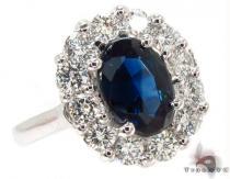 Deep Blue Sapphire & Diamond Ring 31558 ジェムストーン ダイヤモンド リング