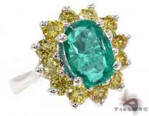 oval cut Emerald & Diamonds Ring 31560 ジェムストーン ダイヤモンド リング