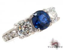round cut Sapphire & Diamond Ring 31562 ジェムストーン ダイヤモンド リング