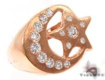 Crescent Moon Bezel Diamond Ring 31563 メンズ ダイヤモンド リング
