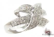 Silver Interwoven Diamond Ring 31584 Silver Rings For Women