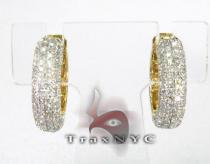 Ladies Bubble Earrings 2 Stone