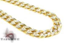 10K Yellow Gold Diamond Cut Cuban Chain 26 Inches 7mm 17.4 Grams Gold