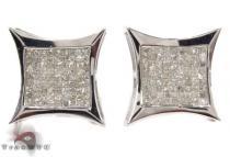 Invisible Diamond 14K White Gold Earrings 31665 メンズ ダイヤモンドイヤリング ピアス