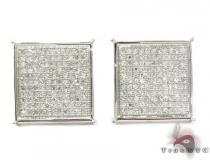 White Pave XL Earrings 2 Mens Diamond Earrings