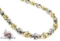 Channel Diamond Two Tone Chain 30 Inches 5mm 67.07 Grams ダイヤモンド チェーン