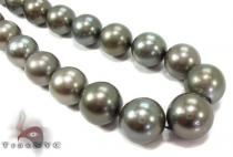 Black Color Pearl Necklace 31727 パールネックレス