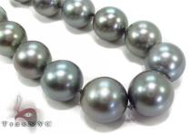 Black Color Pearl Necklace 31728 パールネックレス