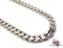 10K White Gold Miami Cuban Link Chain 23 Inches 10mm 157.3 Grams ゴールド チェーン