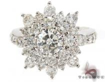 18K White Gold Burst Diamond Ring 32012 レディース ダイヤモンド リング