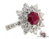 Red Ruby & Diamond Ring 32016 ジェムストーン ダイヤモンド リング
