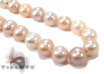 Pink Multi-Color Pearl Necklace 32032 パールネックレス
