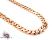 14K Rose Gold Miami Cuban Chain 30 Inches 9mm 178.3 Grams ゴールド チェーン
