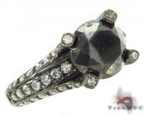 Custom Black Solitaire Diamond Ring ダイヤモンド 婚約 結婚指輪