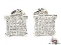 10K White Gold Prong Diamond Earrings 32056 Mens Diamond Earrings