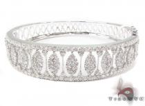 Prong Diamond Bracelet 32075 ダイヤモンド バングル