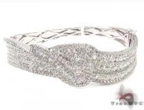 Prong Diamond Bracelet 32079 ダイヤモンド バングル
