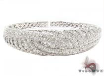 Prong Diamond Bracelet 32081 ダイヤモンド バングル