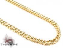 14K Yellow Gold Franco Chain 28 Inches 3mm 14.50 Grams ゴールド チェーン