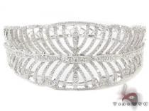 Prong Diamond Bangle Bracelet 32188 ダイヤモンド バングル