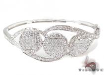Invisible Diamond Bangle Bracelet  32193 ダイヤモンド バングル