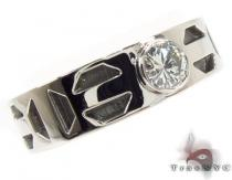 Bezel Diamond Platinum Ring 32218 Mens Diamond Rings