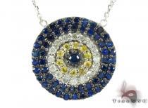 Sapphire & Diamond Pendant 32225 ジェムストーン ネックレス