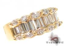 14K Yellow Gold Channel Diamond Ring 32236 レディース ダイヤモンド リング