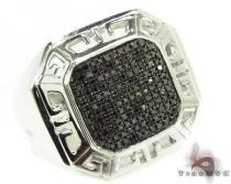 Prong Black Diamond Ring 32244 メンズ ブラックダイヤモンド リング