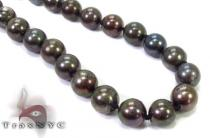 Black Color Pearl Necklace 32245 パールネックレス