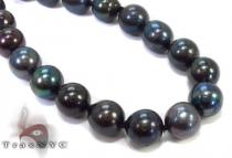 Black Color Pearl Necklace 32246 パールネックレス