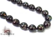 Black Color Pearl Necklace 32247 Pearl
