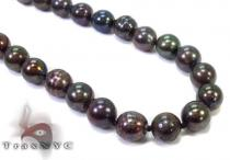 Black Color Pearl Necklace 32248 Pearl