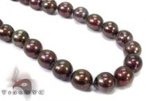 Black Color Pearl Necklace 32249 パールネックレス