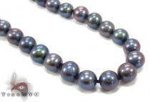 Black Color Pearl Necklace 32250 パールネックレス