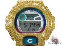 Casio G-Shock Yellow CZ Silver Case Watch G-Shock Watches