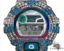 Casio G-Shock Blue and White CZ Silver Case Watch G-Shock