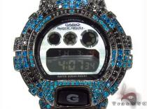 Casio G-Shock Blue & Black Silver CZ Watch G-Shock Watches