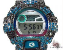Casio G-Shock Blue and Black CZ Silver Case Watch G-Shock