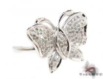 Silver Diamond Butterfly Ring 32300 Silver Rings For Women