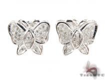 Prong Diamond Butterfly Earrings 32302 On Sale