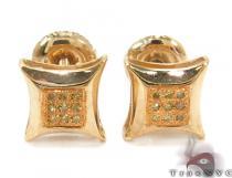 Prong Diamond Silver Earrings 32305 Metal
