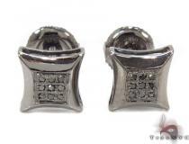 Prong Diamond Black Earrings 32306 Metal