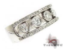 Mens Dual Track Five Stone White Gold Wedding Ring Mens Diamond Rings
